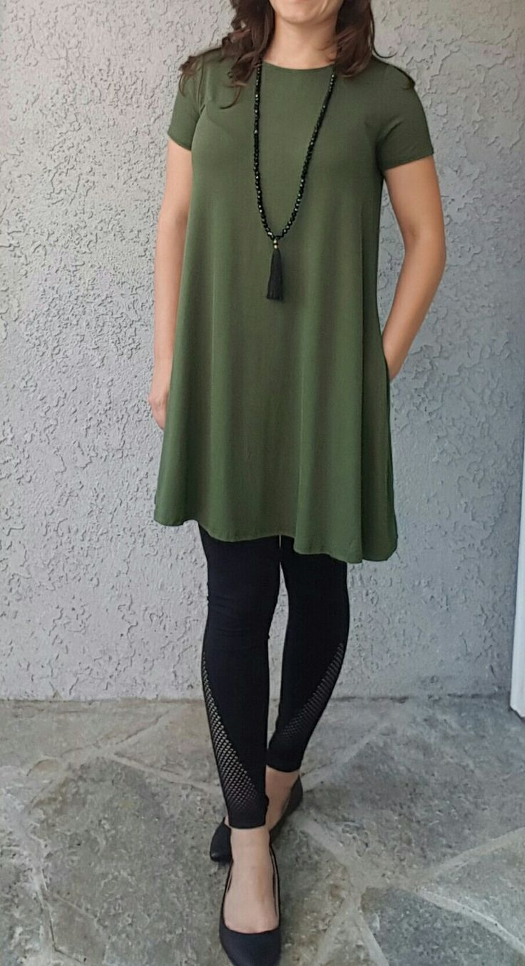 Olive tunic by agnes and dora with black leggings from target ootd www maycloth