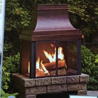 Lowes 89801- outdoor fireplace with faux stone base, by ...