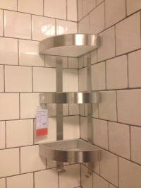 Ikea Shower GRUNDTAL Corner wall shelf unit, stainless
