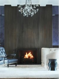 Blackened Steel Fireplace by Aguirre Design Inc on ...