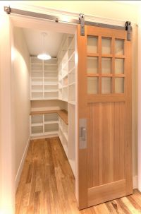 Amazing door treatment for walk in pantry. | Kitchen ideas ...