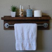 Bathroom Shelves With Towel Bar - WoodWorking Projects & Plans