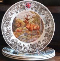 """Queen's Quintessential Game STAG 10"""" DINNER PLATE deer NWT ..."""