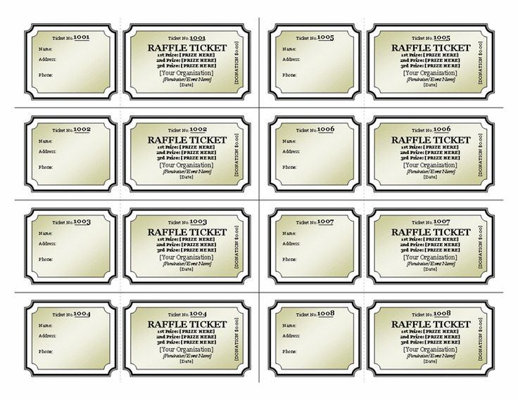 Print Your Own Tickets Template Free 9 best images of print your - print your own tickets template free