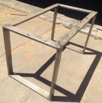 Metal Table Base | Hot Rolled Steel 3x1 Tubing | Metal ...