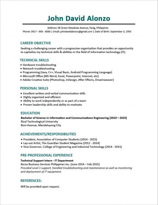 Computer Operator Resume Format  Computer Operator Resume