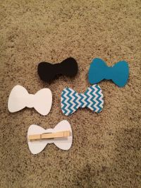 baby shower clothespin bow tie - Google Search | Baby ...