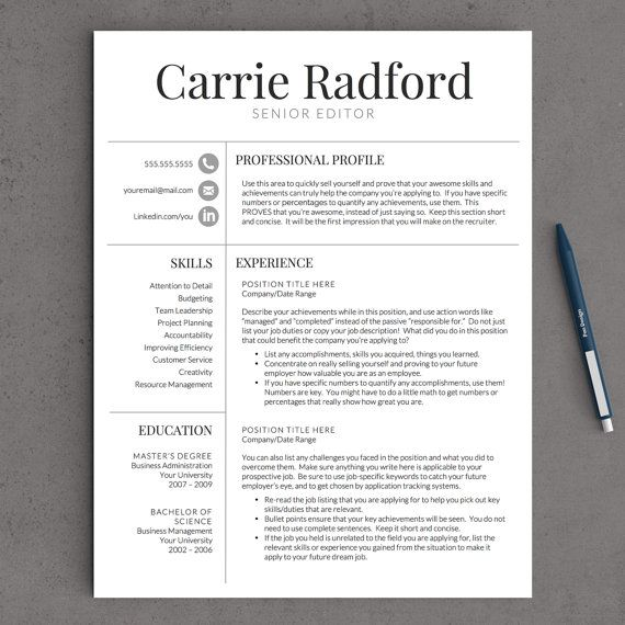 3 Ways To Write A Resume For A Non Profit Agency Wikihow 141 Best Images About Professional Resume Templates On
