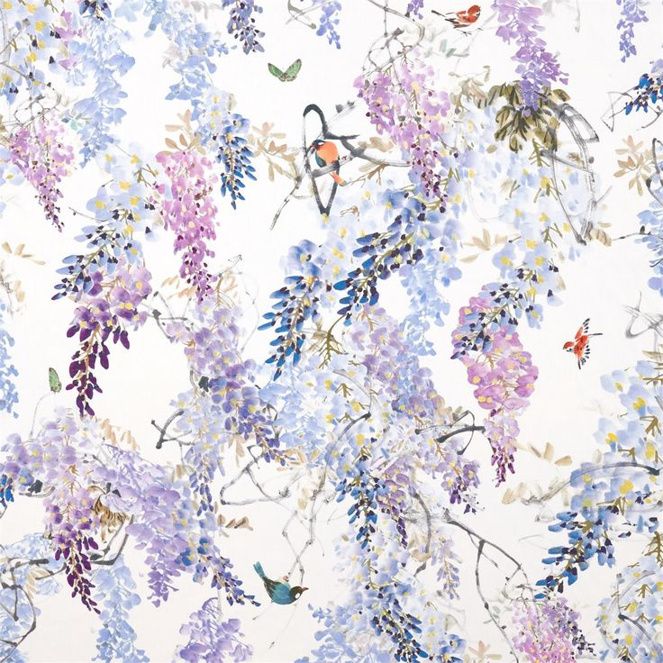 Sanderson Wisteria Falls Wallpaper 1000 Ideas About High Quality Wallpapers On Pinterest