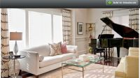 Living room with baby grand piano | Living room decor ...