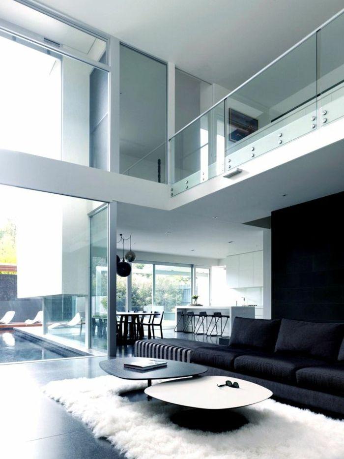 Ruptos Wohnzimmer Modern Schwarz Wei - inneneinrichtung wohnzimmer modern