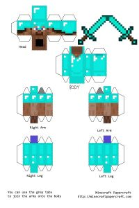 Search Results for Minecraft Papercraft Steve With Armor