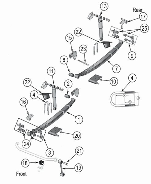 jeep grand cherokee rear suspension diagram