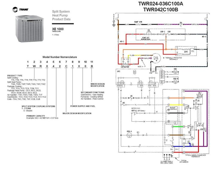 trane wiring diagrams for heat systens