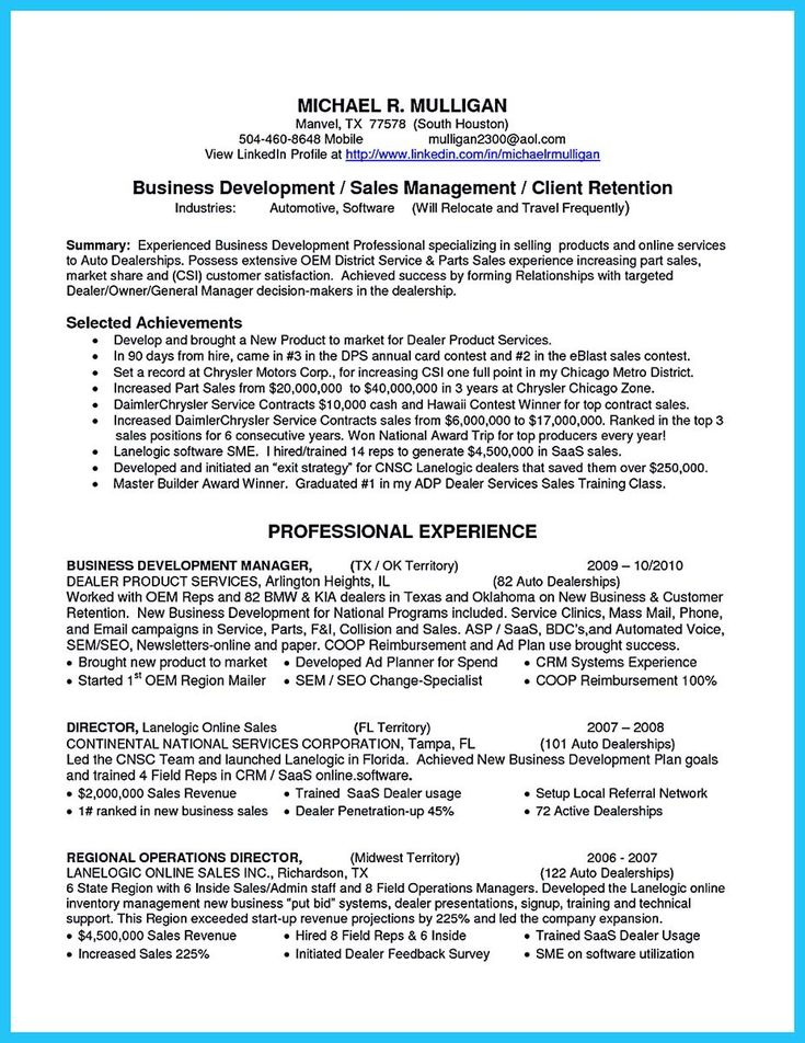 nice Writing a Clear Auto Sales Resume, resume template - auto sales resume