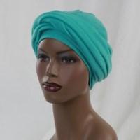 Turban Dreads Aqua Head Wrap, Alopecia Scarf Chemo Hat ...