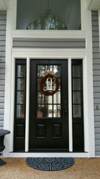 25+ best ideas about Black front doors on Pinterest