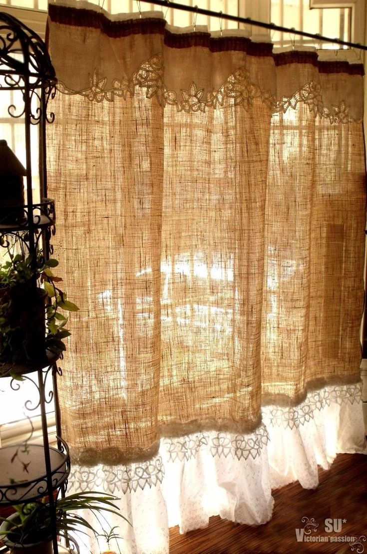 Only best 25+ ideas about Burlap Shower Curtains on