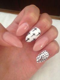 Almond shape & nail art! | NAILS | Pinterest | Nail art ...