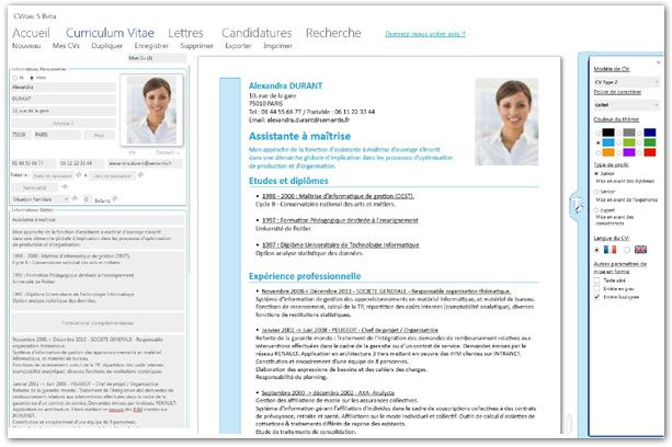 cvitae comment enregistrer son cv