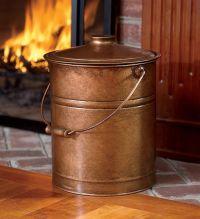 Double-Bottom Galvanized Steel Ash Bucket with Handle ...