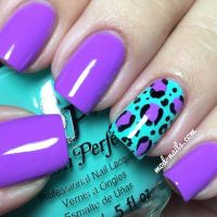 Purple And Blue Nails Designs
