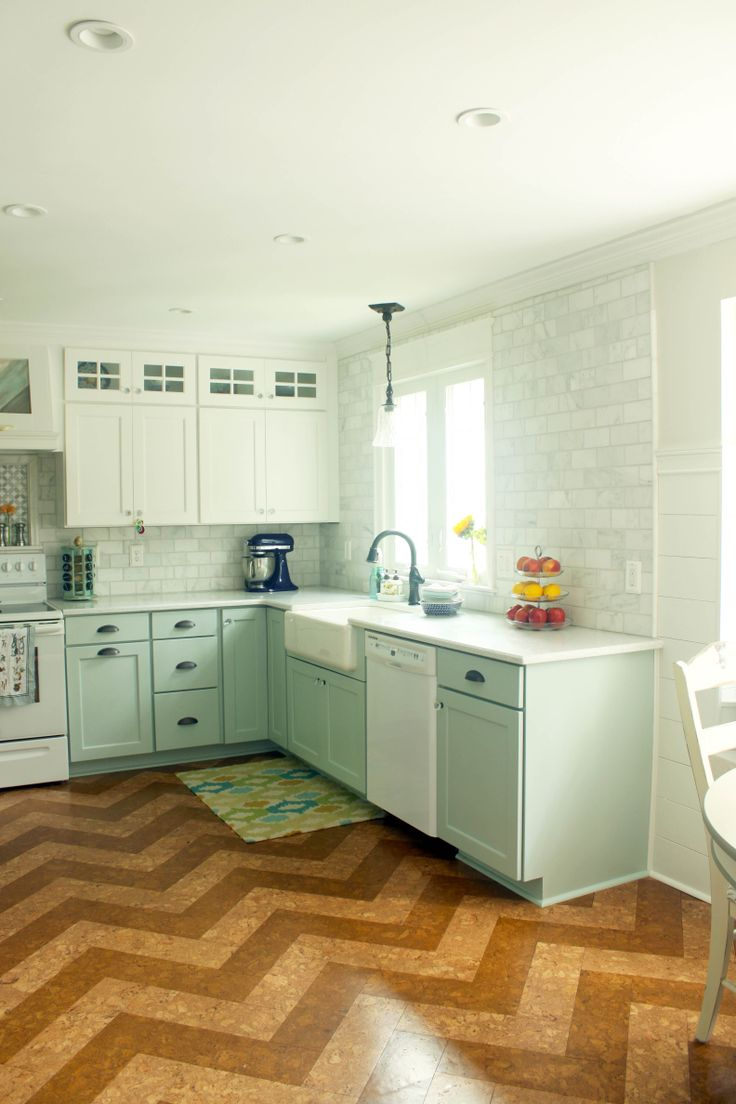 kitchen flooring designs cork kitchen flooring CorkFloor com cork tiles selected and installed by PrettyHandyGirl com