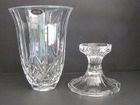 Vintage Deplomb 24% Lead Crystal 2 Piece Candle Holder ...