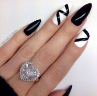180 best images about Black & White Nails on Pinterest