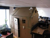 Cardboard Cubicle House Prank | Home, House pranks and ...