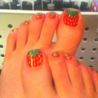 Strawberry toenails :) | Nails! | Pinterest