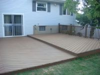 Ideas for deck over concrete patio and beyond