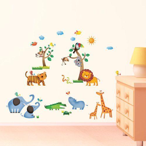 25+ melhores ideias sobre Wandtattoo Dschungel no Pinterest - wandsticker babyzimmer nice ideas