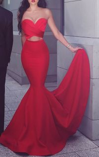 1000+ ideas about Red Satin Dress on Pinterest | Red satin ...