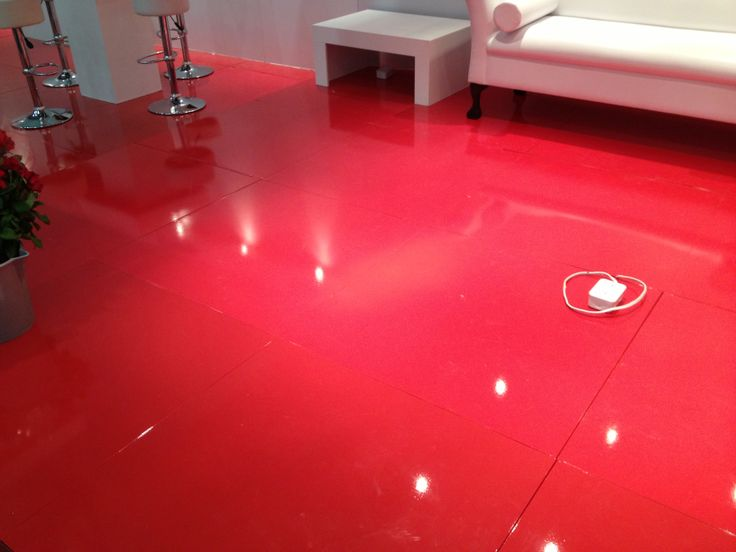 Bright Red Gloss Floor At Expo Colourful Flooring