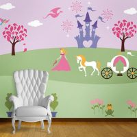 Princess Wall Mural Stencil Kit for Baby Girls Room ...