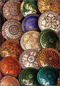 Moroccan hand painted plates | Art | Pinterest | Hand ...