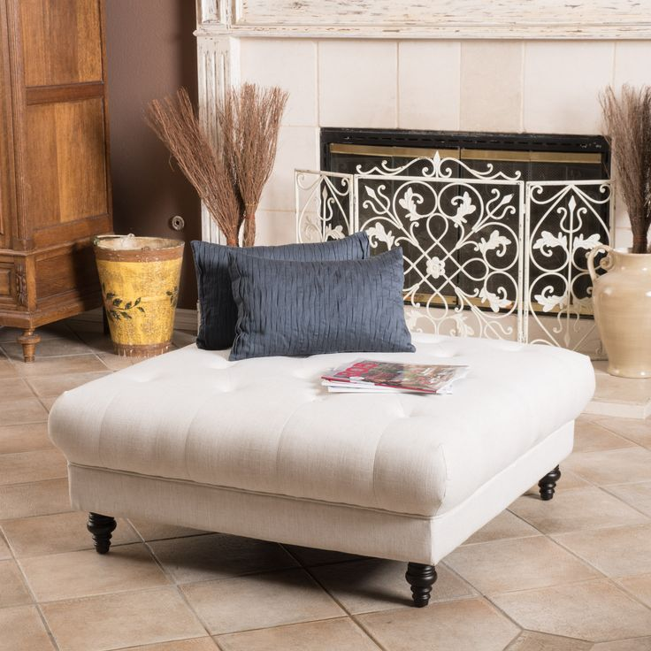 17 Best Ideas About Tufted Ottoman Coffee Table On