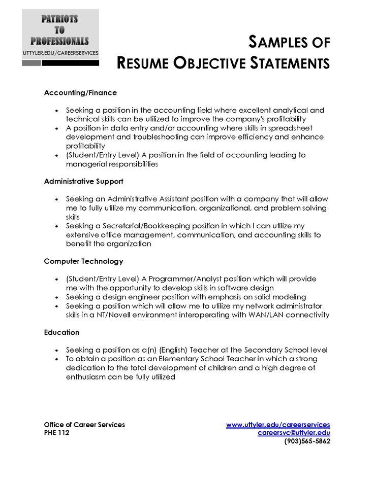 Sample resume objective statements bank teller – Objective for Bank Teller Resume