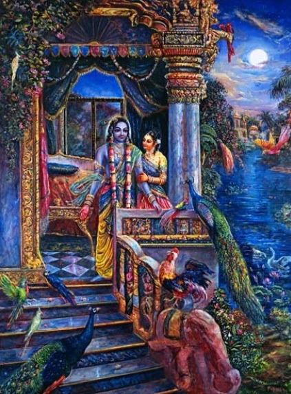 Romantic Radha Krishna Wallpaper Hd Queen Rukmini And Krsna Awaken To Sounds Of Birds