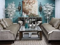 Calming coastal chic living room inspired by tranquil spa ...