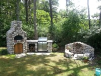 Pizza Oven & Fire Pit set in the woods of the Cape ...
