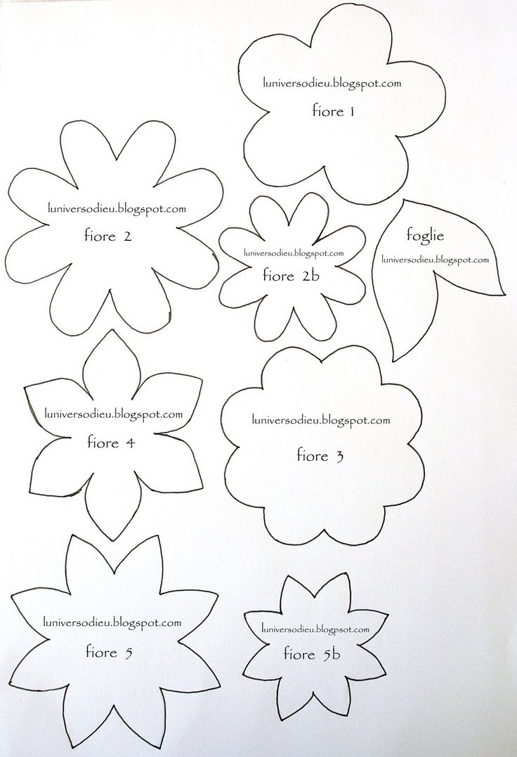 Flower template cut out eliolera flower cut out template eliolera pronofoot35fo Image collections