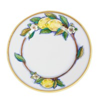 Italian Pottery Deruta Limone Dinner Plate Ceramic with ...