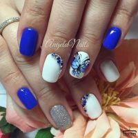 25+ best ideas about Bright Blue Nails on Pinterest ...
