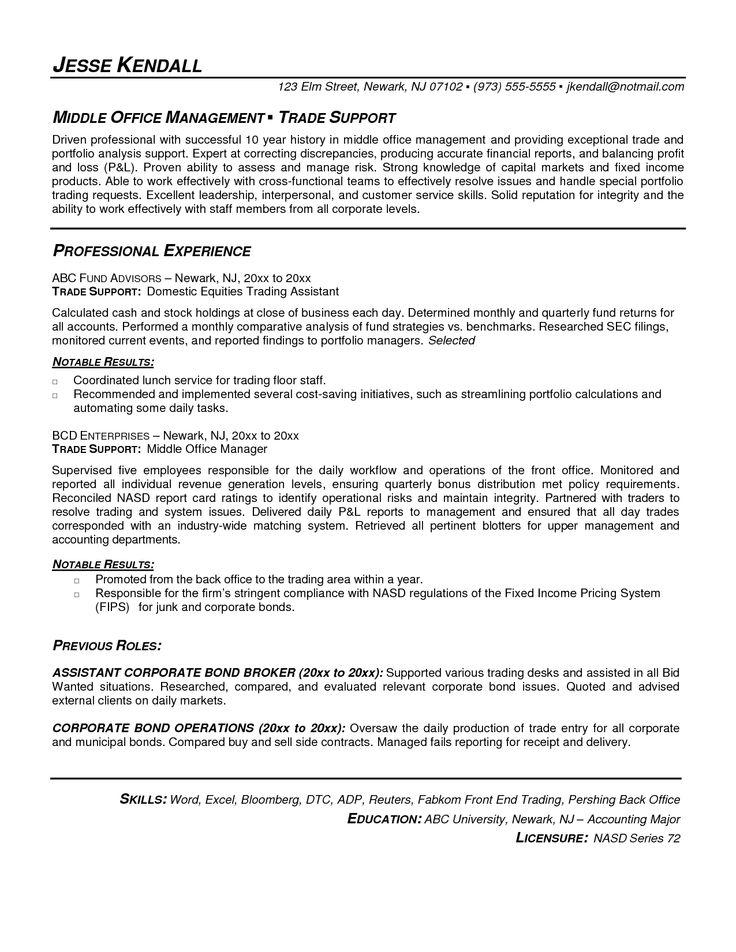 Forex Broker Cover Letter - stock broker resume