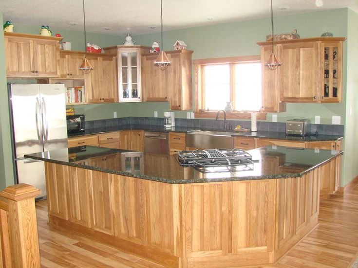 Best Wall Color With Golden Oak Cabinets Google Search