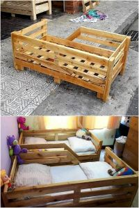 25+ best ideas about Pallet toddler bed on Pinterest ...
