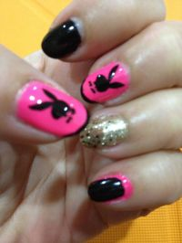 Playboy bunny nailart | DIY nail art creations at Nailroom ...