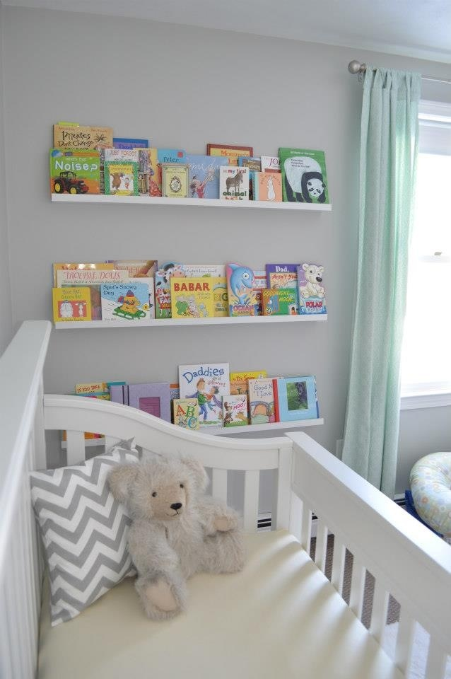 Finished Product Nursery Ikea Ribba Home Pinterest